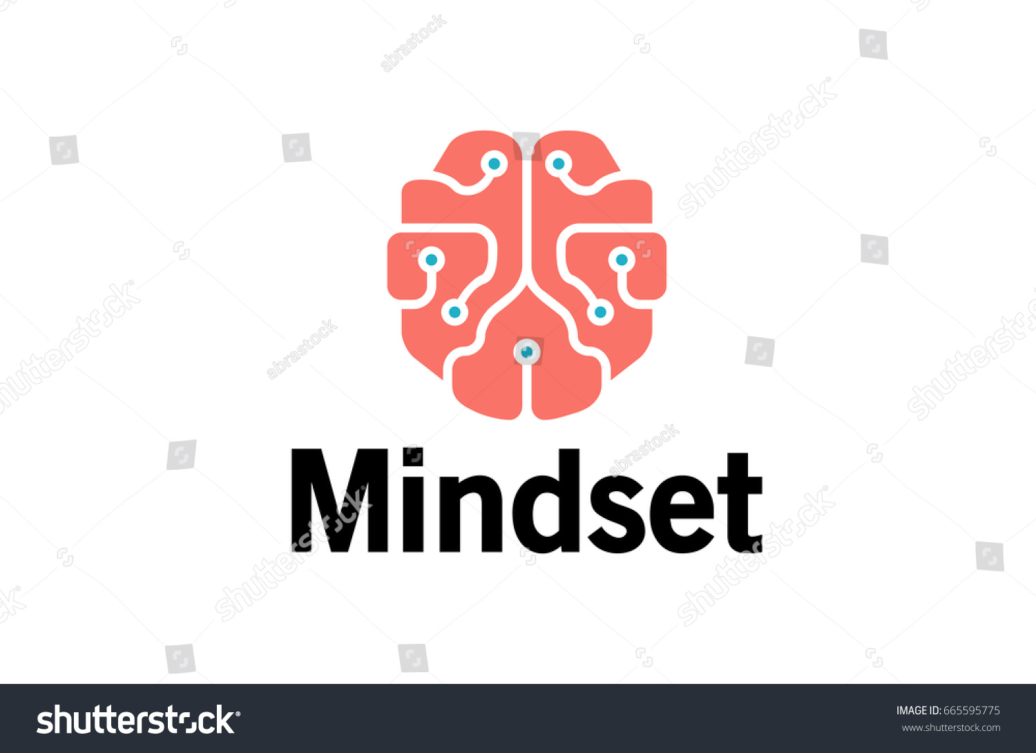 Mindset Pinky Brain Technology Wires Symbol Stock Vector 665595775 ...