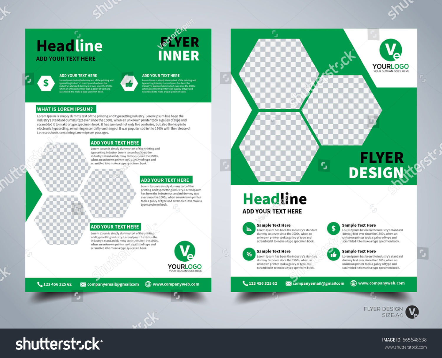 flyer design template vector leaflet design stock vector (royalty