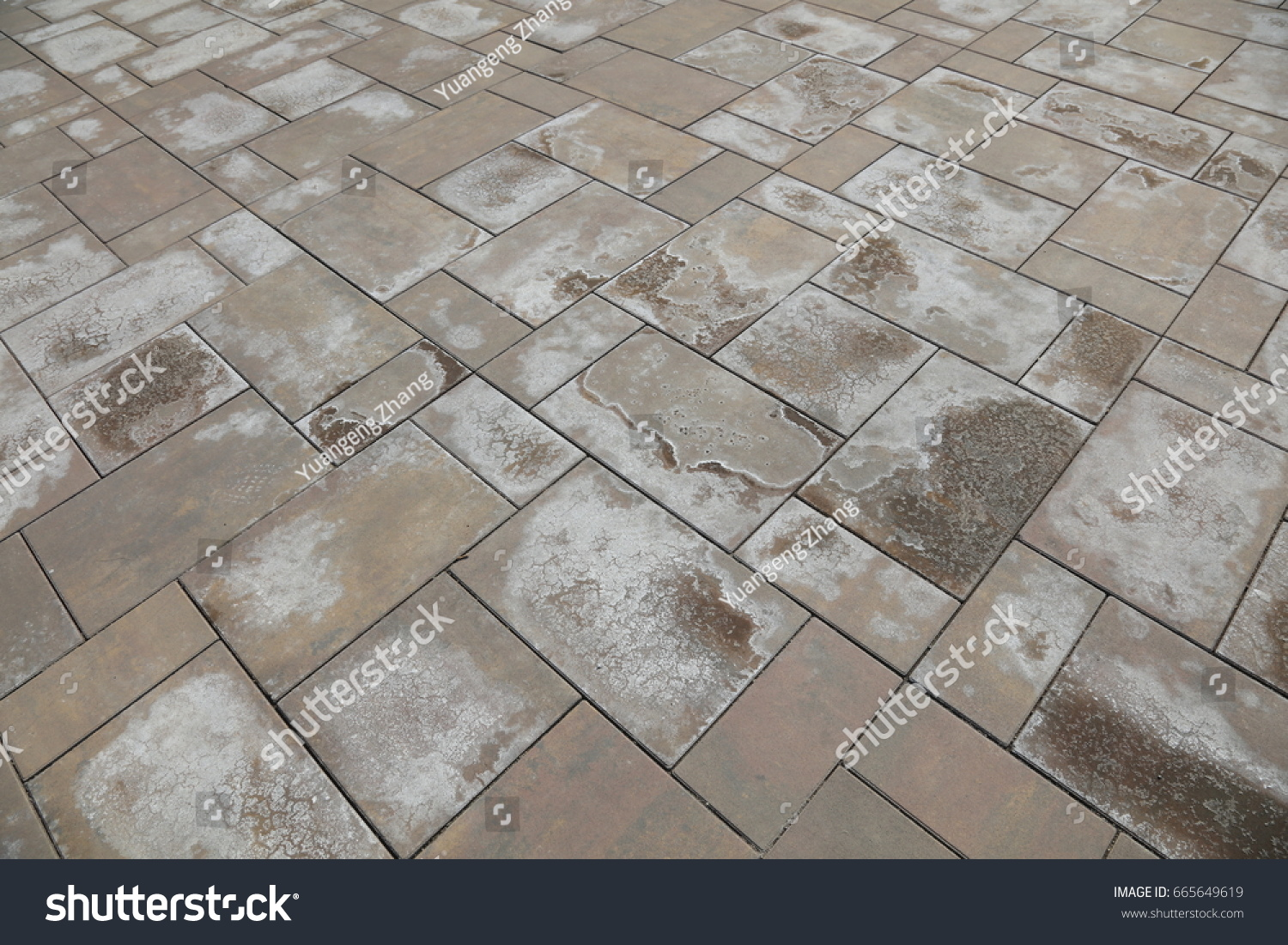 Alkali stain on cement floor tile stock photo 665649619 shutterstock alkali stain on the cement floor tile dailygadgetfo Gallery