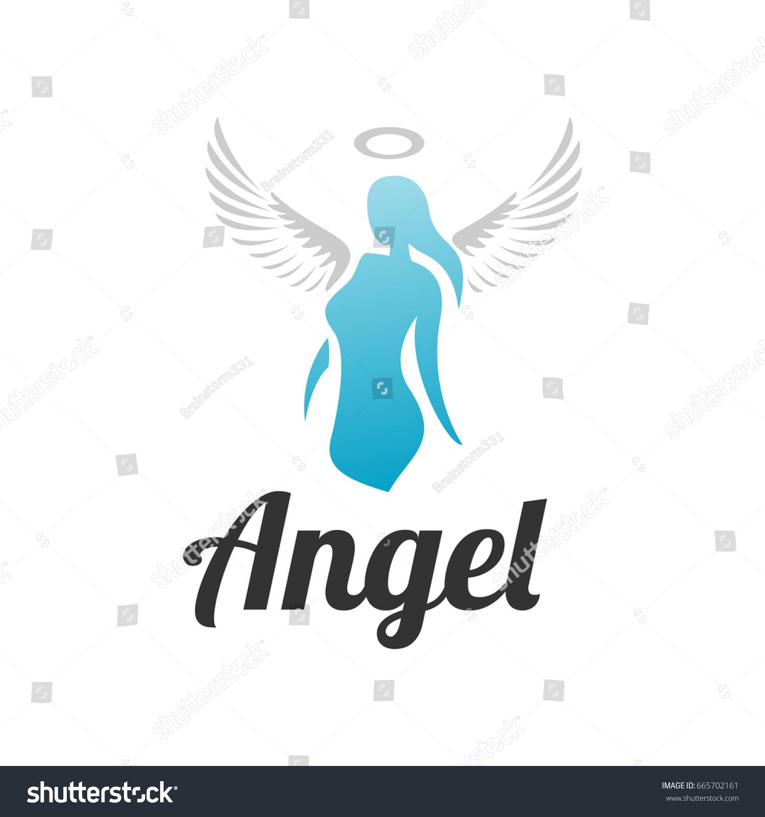 angel logo fitness icon cosmetics health stock vector 665702161 rh shutterstock com angel logo vector free angel logos and designs