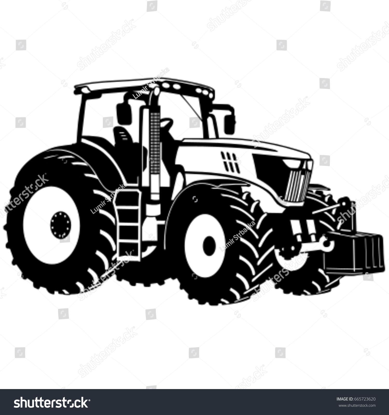 Tractor Pull Clip Art Vector : Tractor vector stock shutterstock