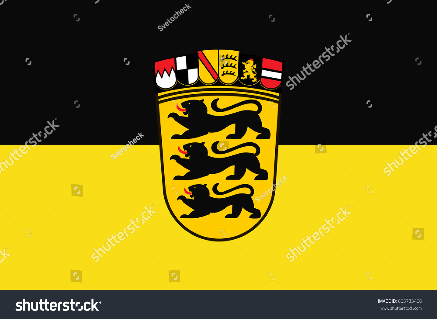 Flag badenwuerttemberg state germany located southwest stock vector flag of baden wuerttemberg is a state in germany located in the southwest east buycottarizona Gallery