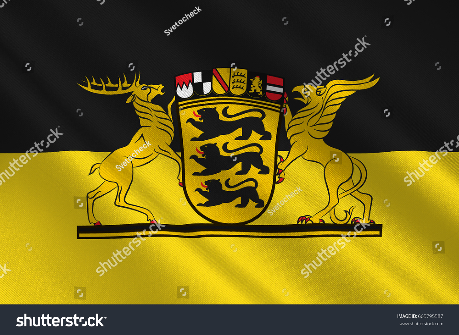 Flag badenwuerttemberg state germany located southwest stock flag of baden wuerttemberg is a state in germany located in the southwest east buycottarizona Gallery