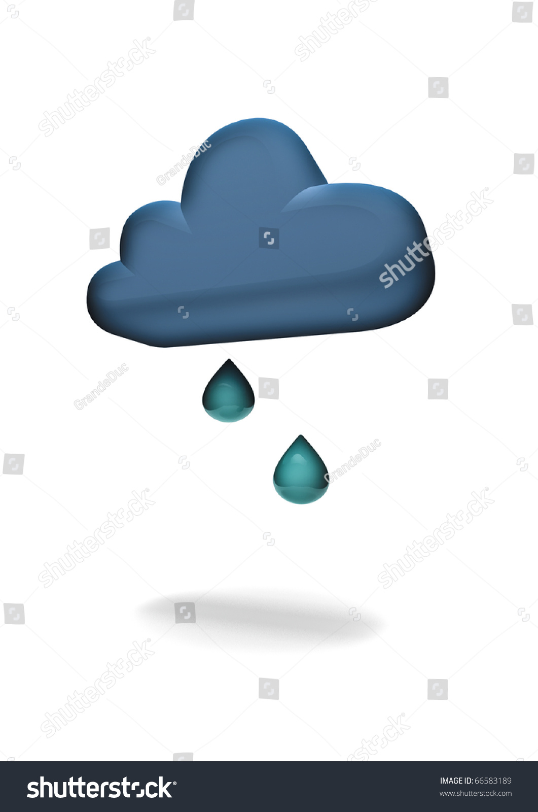 weather symbol light rain stock photo 66583189 shutterstock