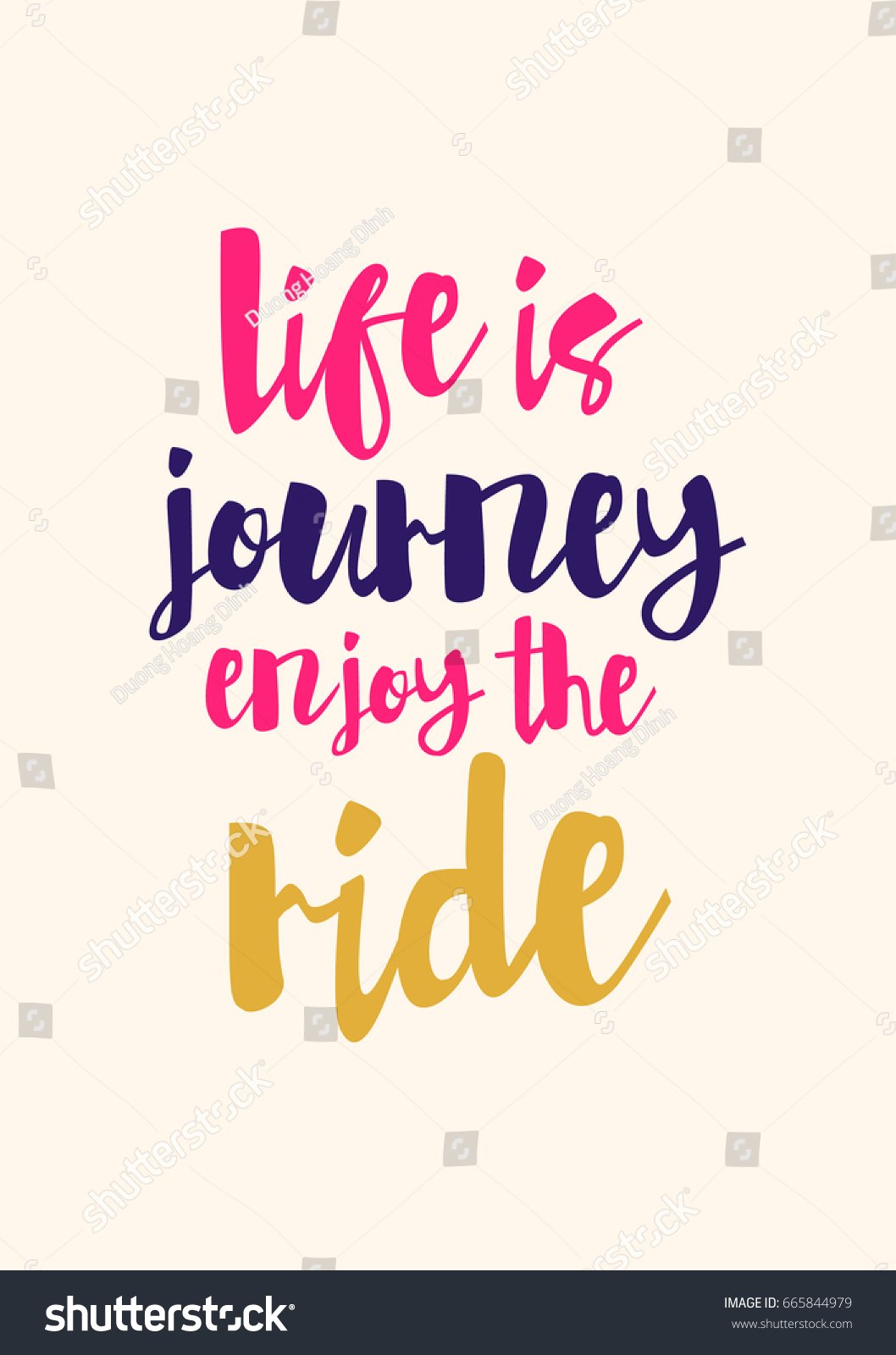 Quotes Life Journey Lettering Quotes Motivation About Life Quote Stock Vector