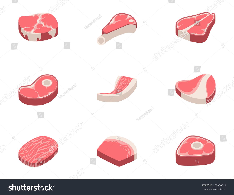 Beef Steak Raw Meat Food Red Stock Vector 665860048 Shutterstock
