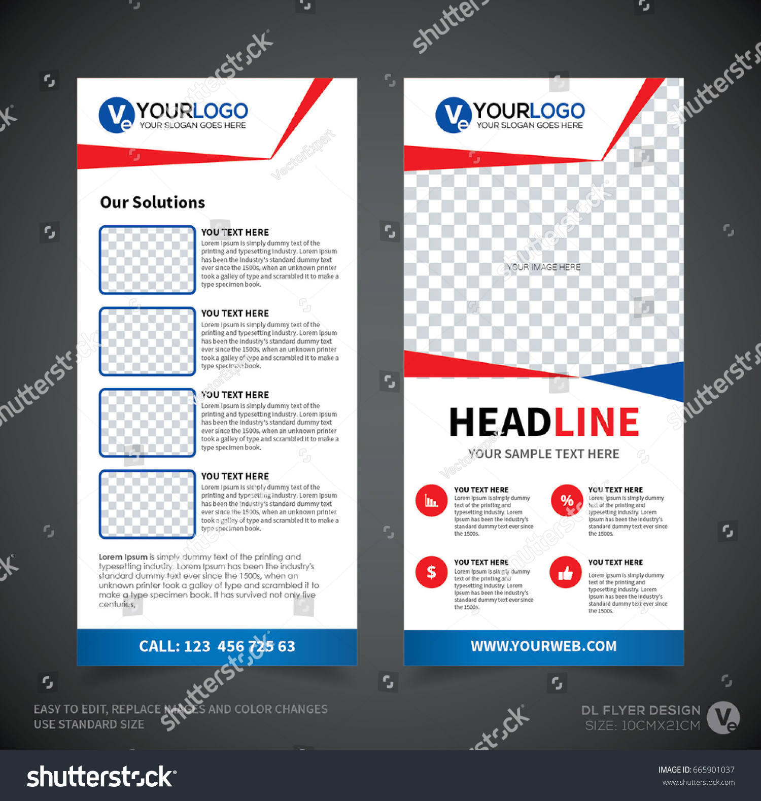 DL Flyer Design Template DL Corporate Stock Vector (Royalty Free ...