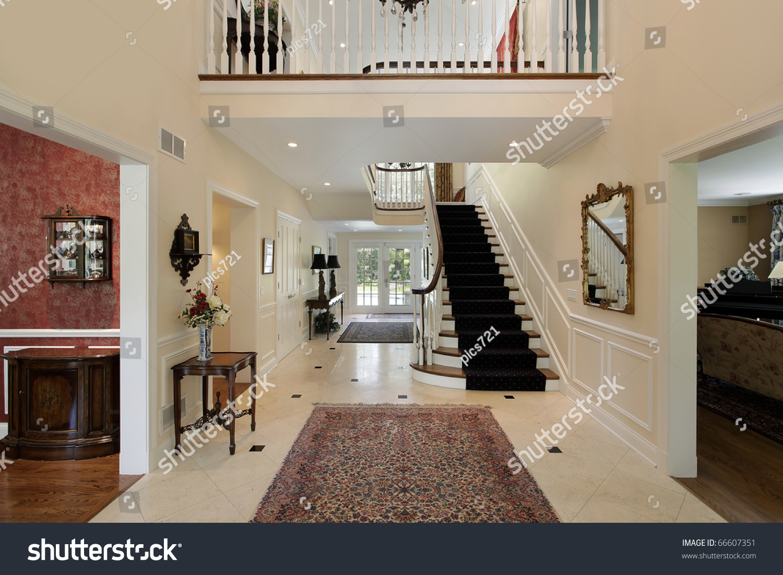 Large foyer luxury home second floor stock photo 66607351 ...