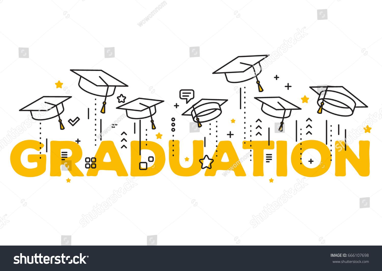 Graduate Art Graduation Word Art Cap and Gown Art Graduate  |Word Art For Graduation
