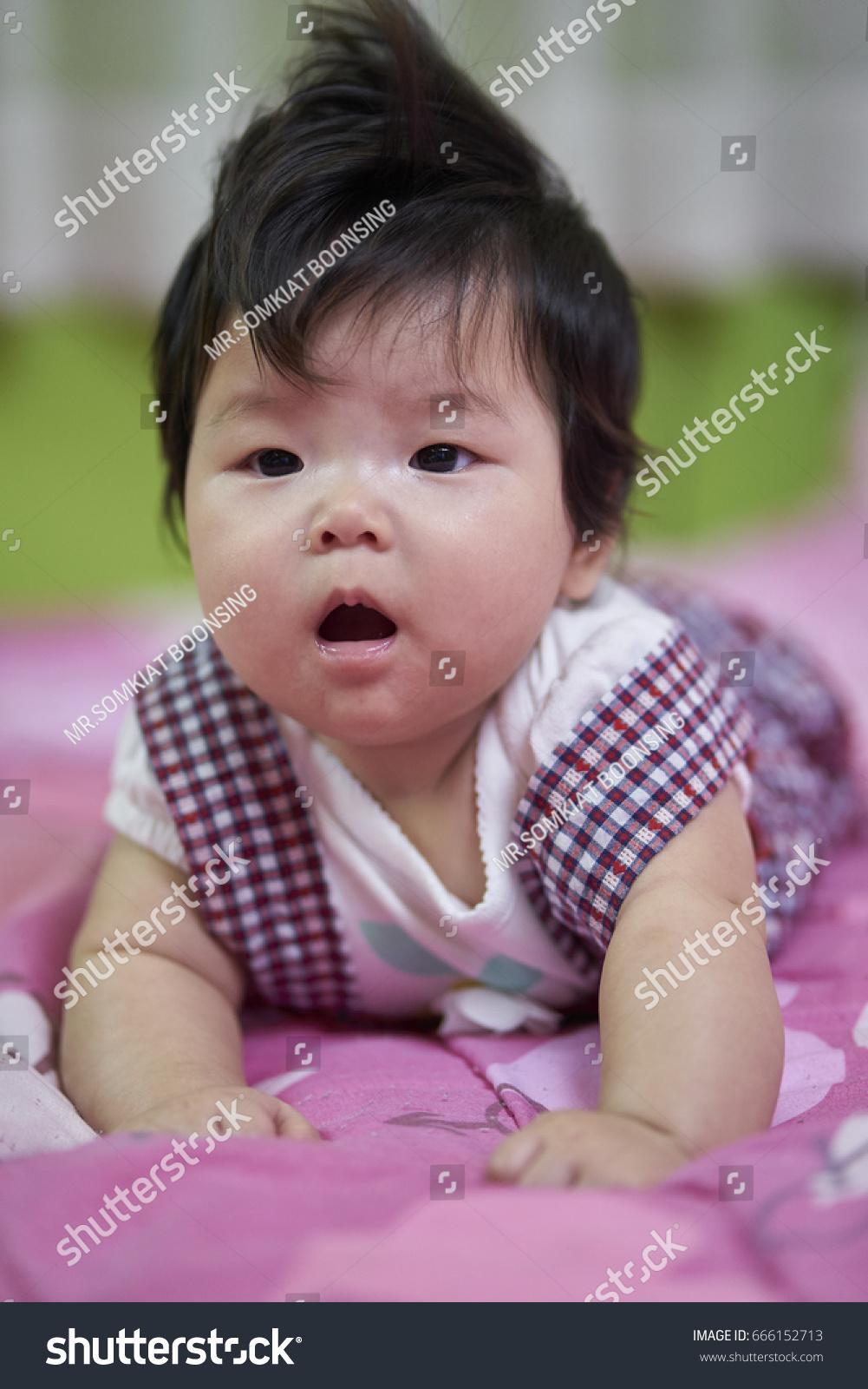 baby girl asian cute kids good stock photo (edit now) 666152713