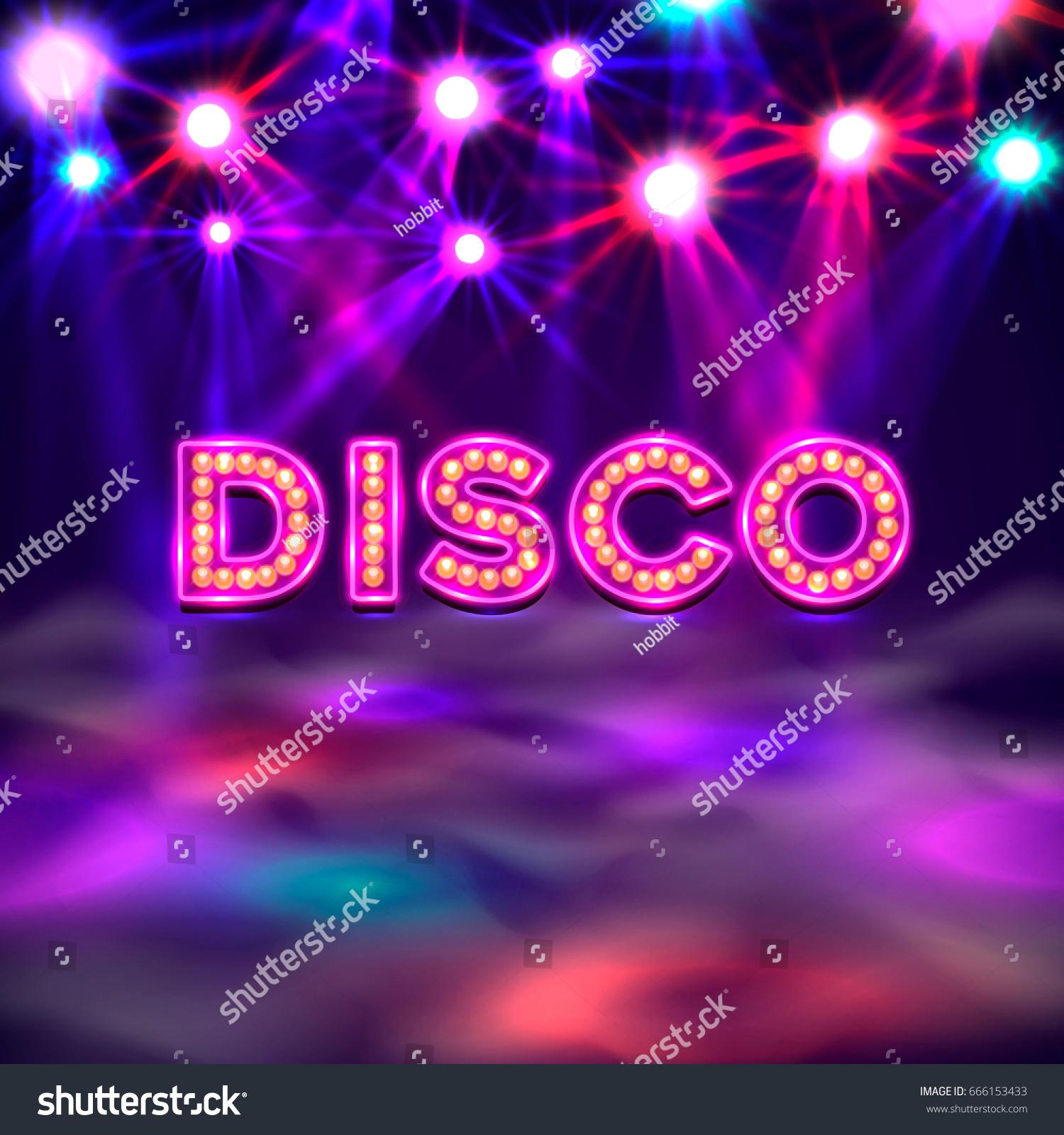 Dance floor banner disco text signboard stock vector for Floor banner