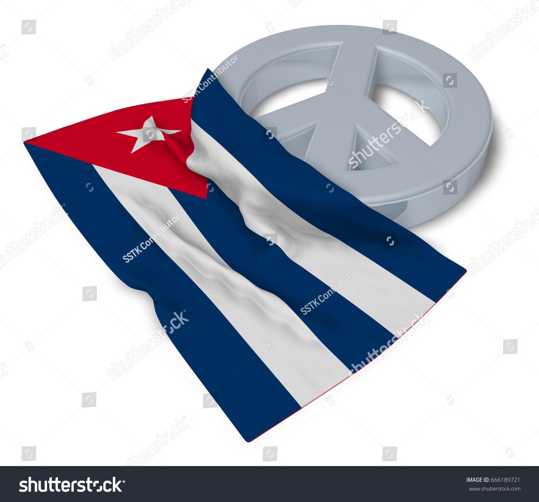Peace symbol flag cuba 3d rendering stock illustration 666189721 peace symbol and flag of cuba 3d rendering biocorpaavc