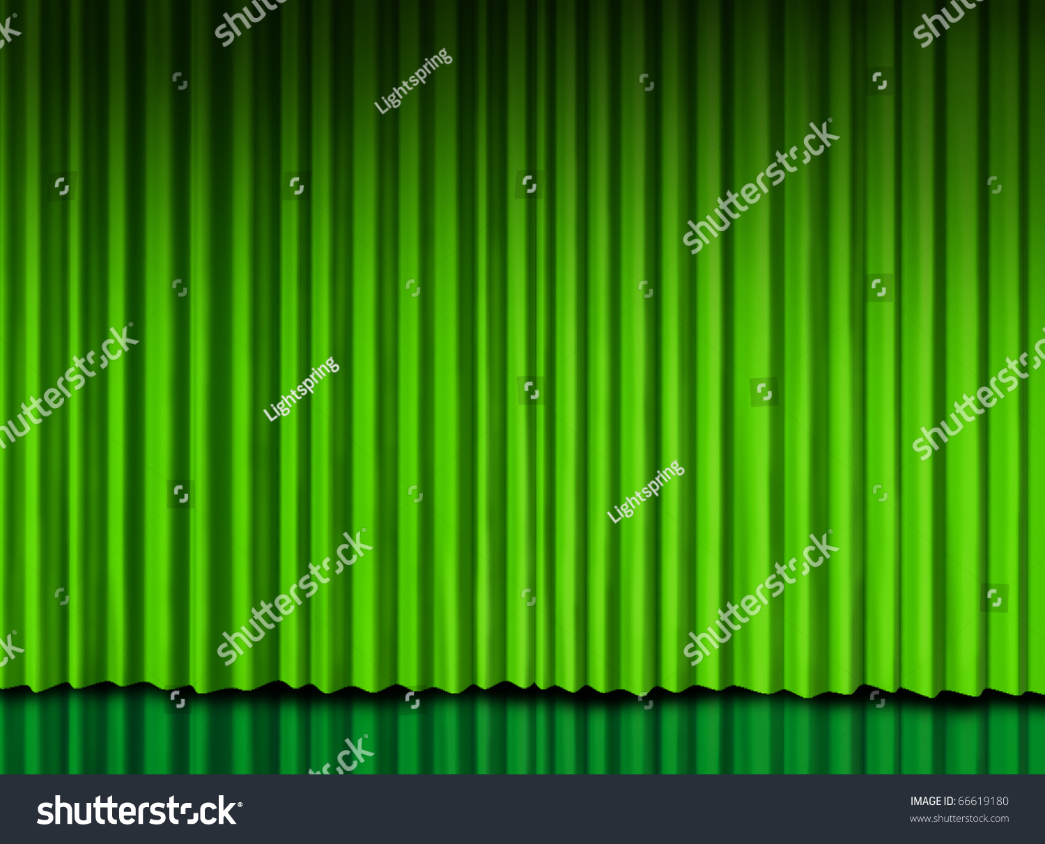 Green stage curtains - Green Curtain On Theater Stage Preview Save To A Lightbox