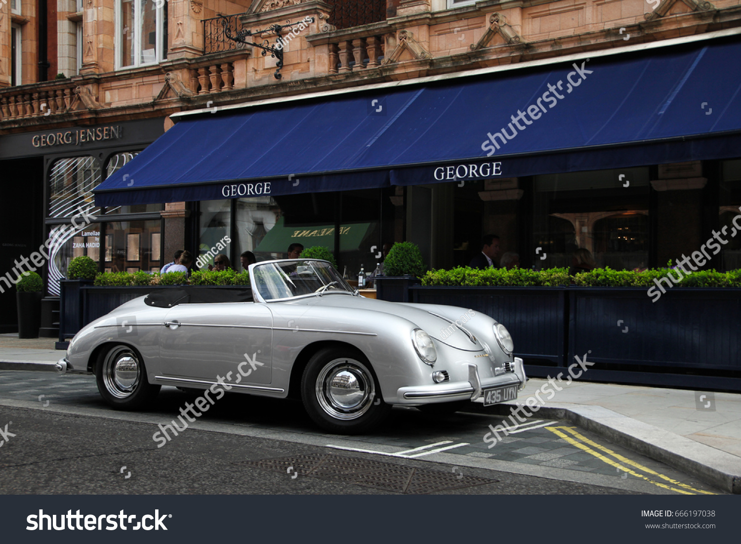 London England 170617 Porsche 356 Classic Stock Photo (Royalty Free ...