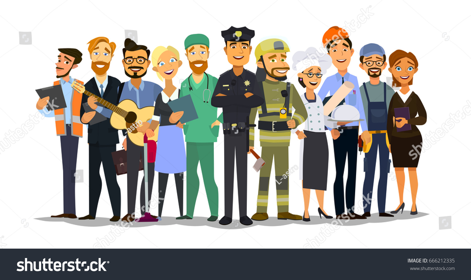 Set of Different Professions