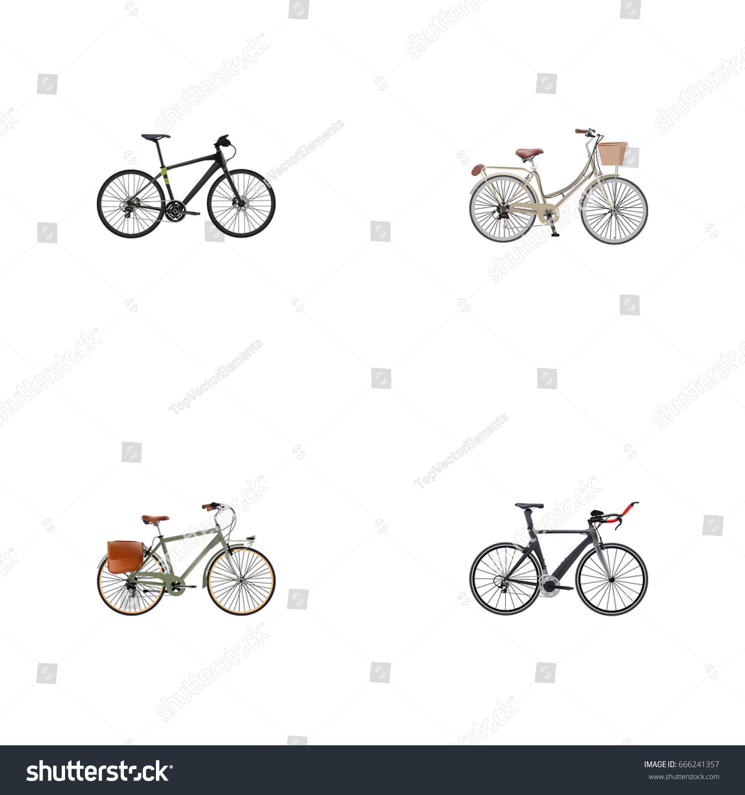 Realistic working competition bicycle brand vector stock vector realistic working competition bicycle brand vector elements set of bicycle realistic symbols also biocorpaavc Images
