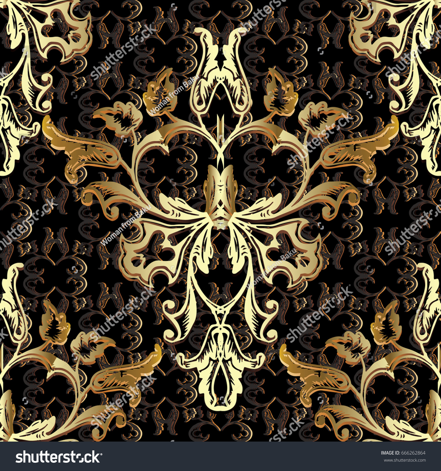 leaf scroll wallpaper vintage patterns - photo #15