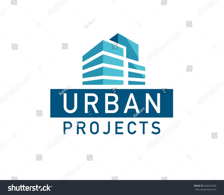 Architect Company Vector Flat Urban Construction Company Logo Stock Vector 666267346
