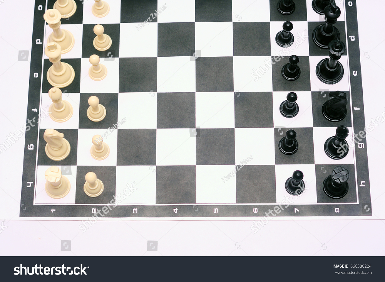 Chess Pieces Board Layout Miscellaneous Stock Image 666380224