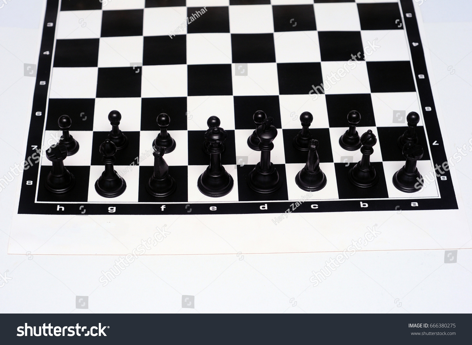Chess Pieces Board Layout Miscellaneous Stock Image 666380275
