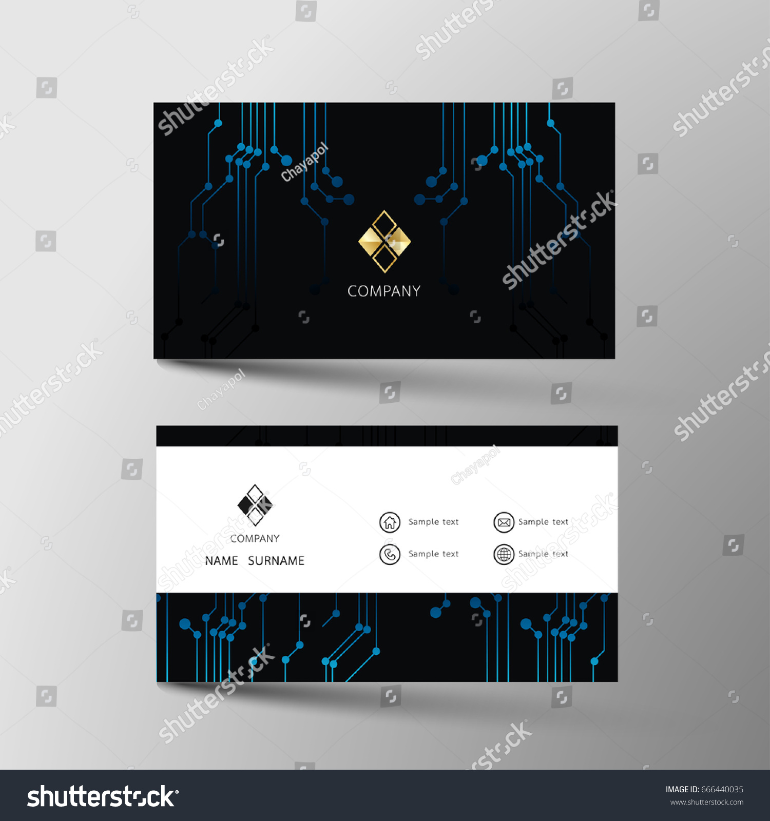 Business Card Inspiration Form Abstract Stock Vector 666440035 ...