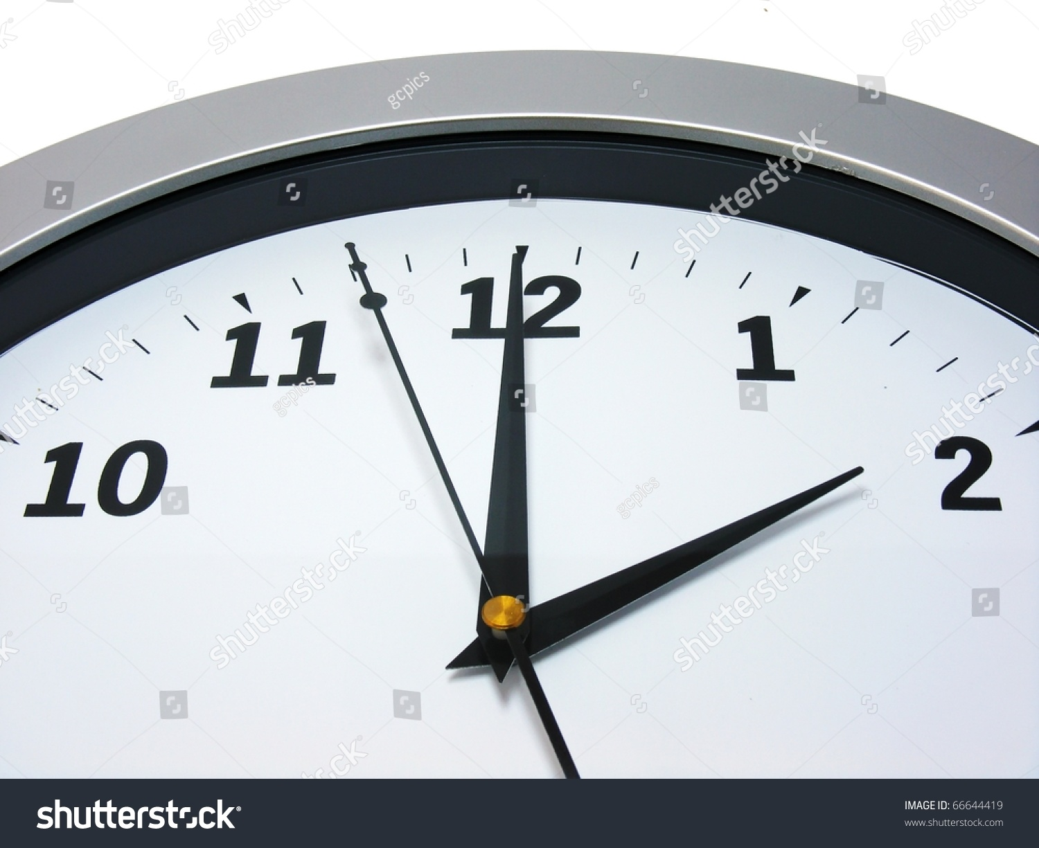 Top area wall clock showing 2 stock photo 66644419 shutterstock top area of a wall clock showing 2 am pm amipublicfo Gallery