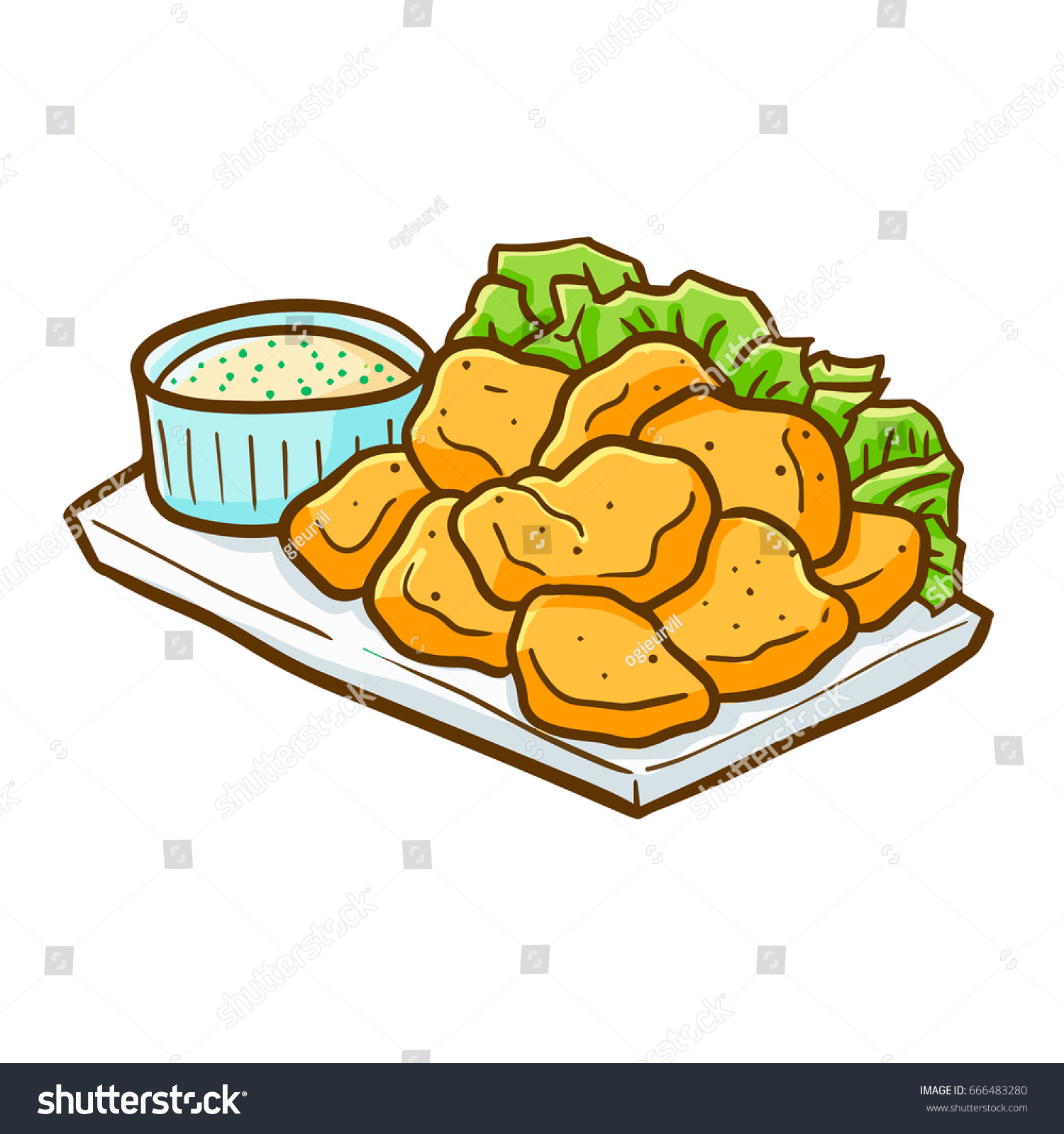 yummy cute chicken nugget ready eat stock photo photo vector rh shutterstock com clipart chicken nuggets chicken nuggets and fries clipart