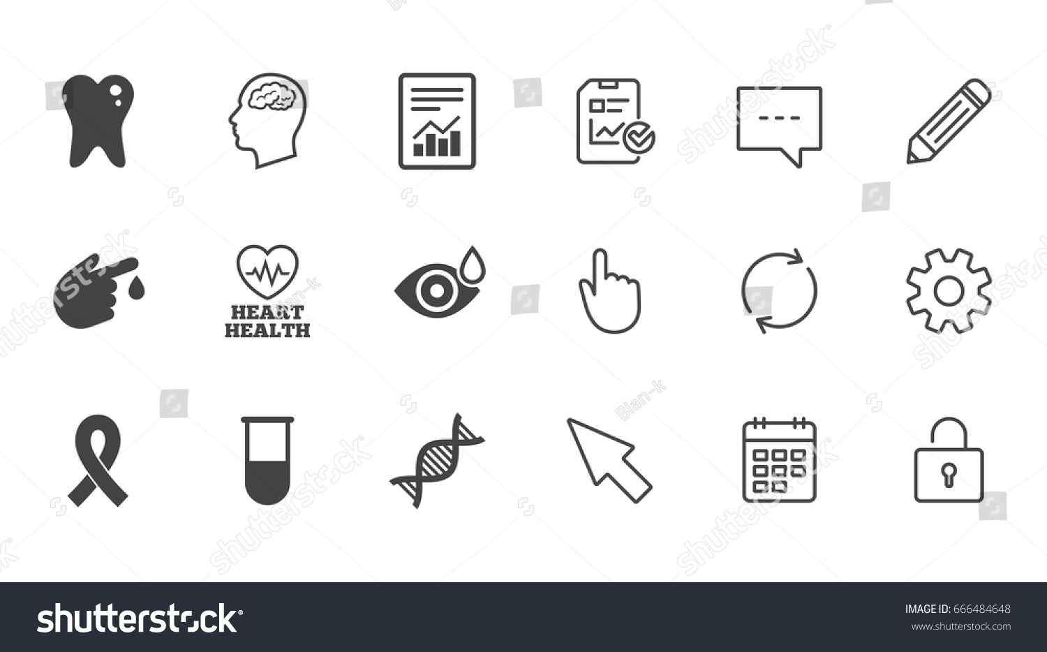 Medicine medical health diagnosis icons blood stock vector medicine medical health and diagnosis icons blood test dna and neurology signs biocorpaavc Gallery