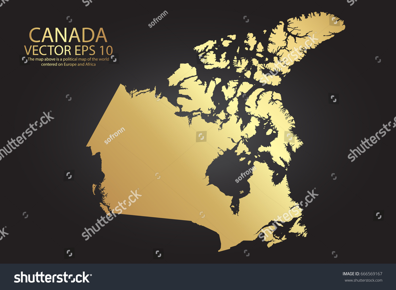 Gold texture map canada abstract metal stock vector royalty free gold texture map of canada abstract metal empty golden gradient template vector illustration eps gumiabroncs Gallery