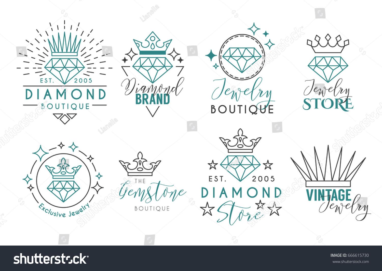 Image Vectorielle De Stock De Logo De Bijoux Ou Modèle D