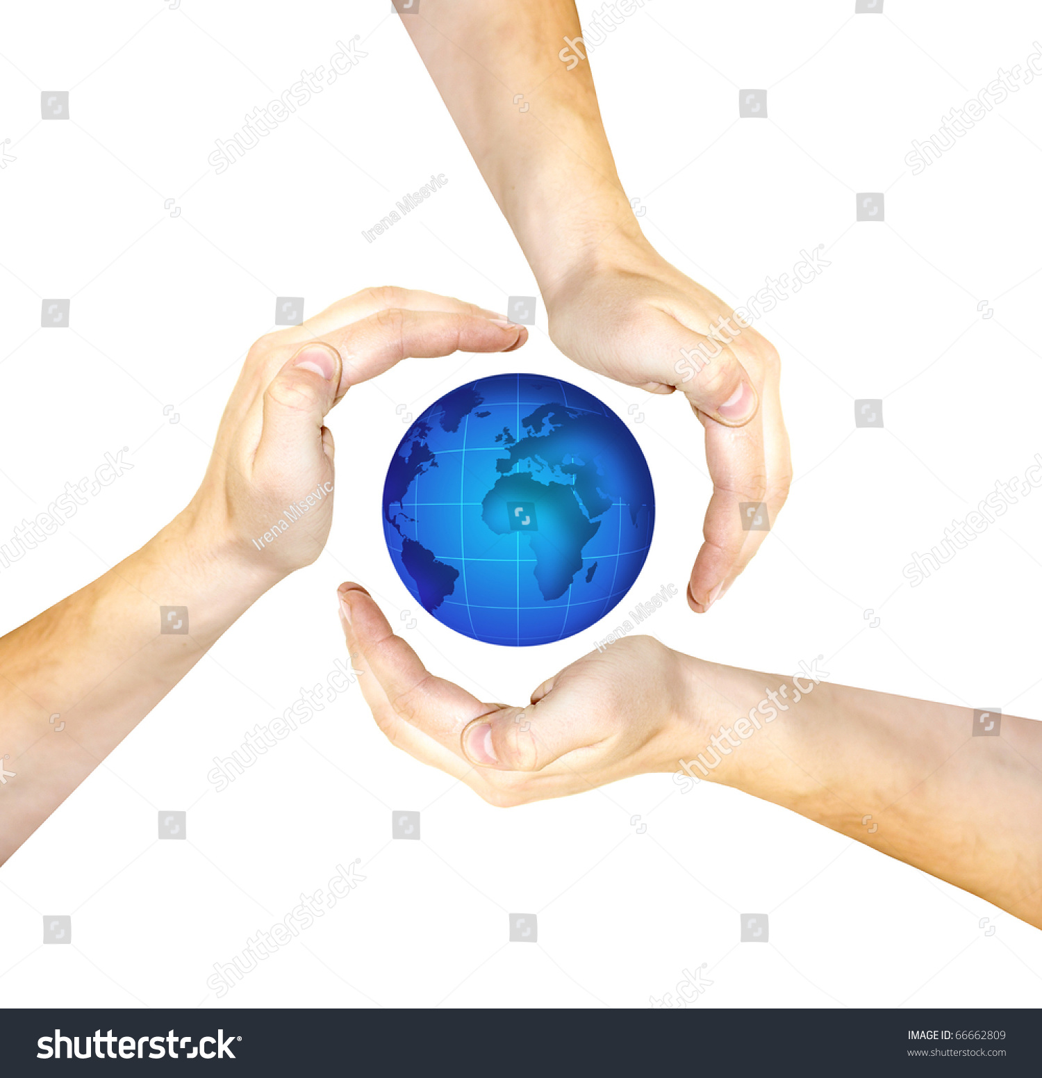 Conceptual safety symbol made hands over stock photo 66662809 conceptual safety symbol made from hands over globe biocorpaavc