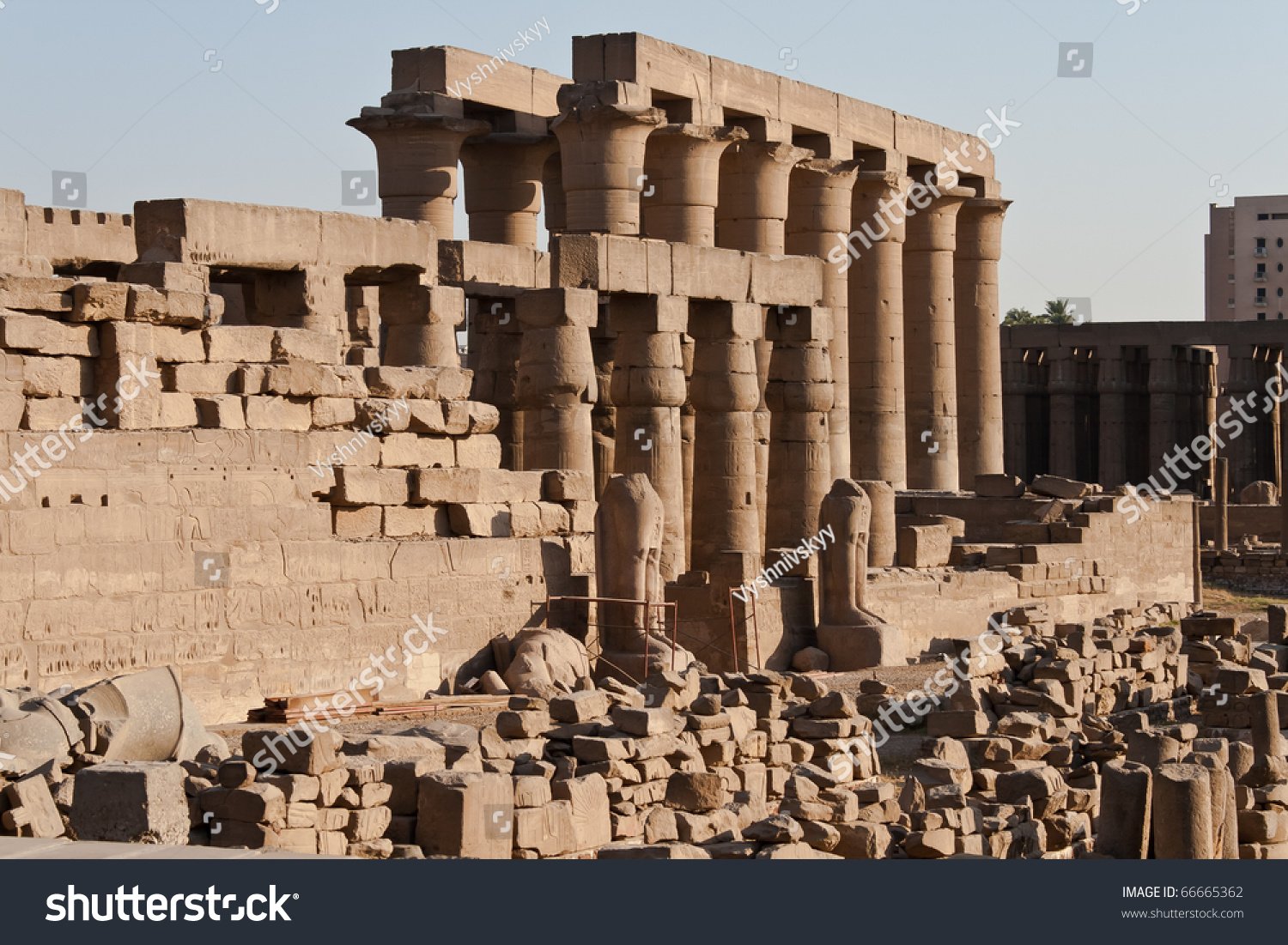 ruins ancient egyptian temple luxor stock photo royalty free