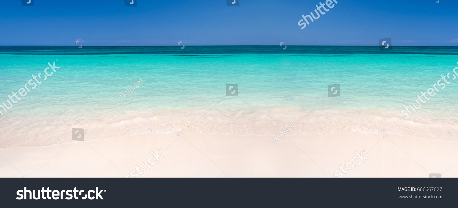 Sand caribbean sea panoramic background summer stock photo sand and caribbean sea panoramic background summer and travel concept voltagebd Choice Image