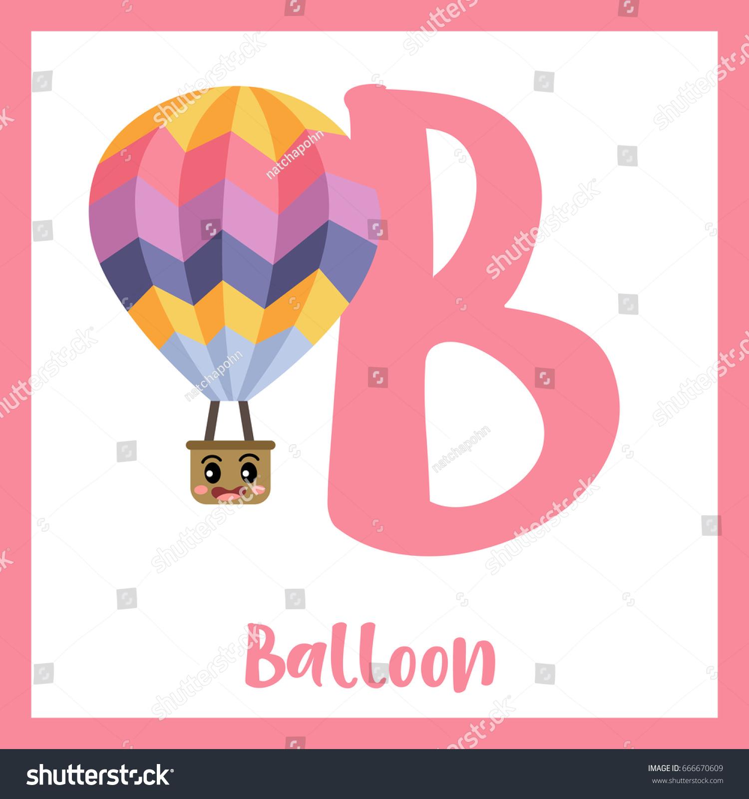 Letter B Cute Children Colorful Transportations Stock Vector ...