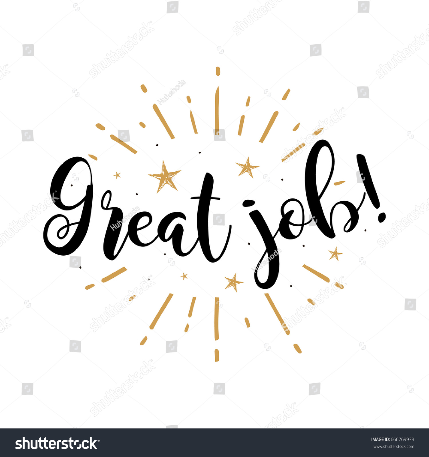 Great job beautiful greeting card poster stock vector Calligraphy as a career
