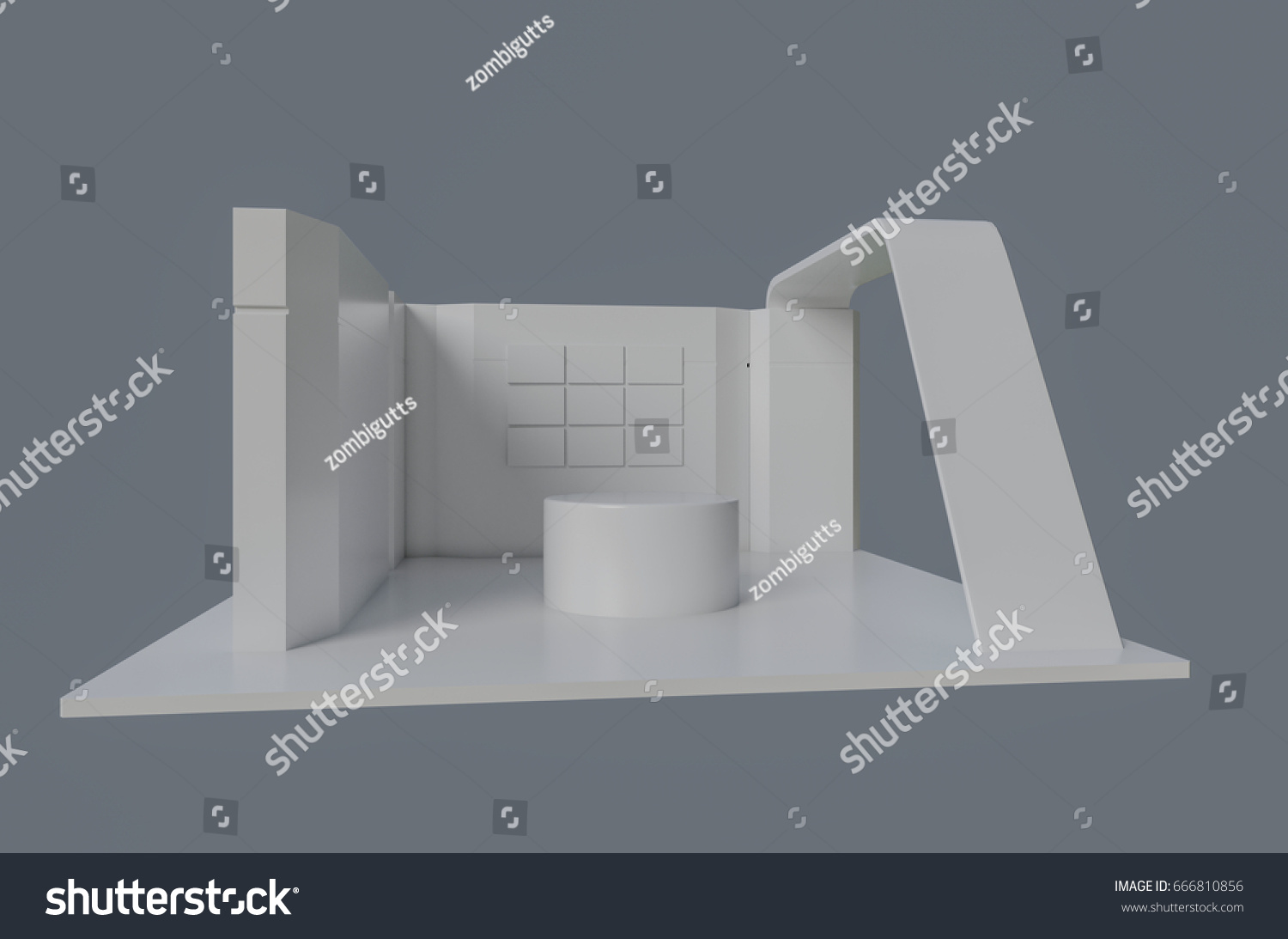 Exhibition Booth Animation : Corner exhibition stand re