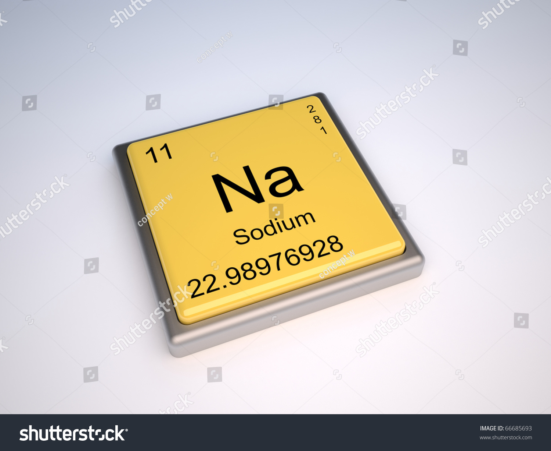 Sodium Chemical Element Periodic Table Symbol Stock Illustration
