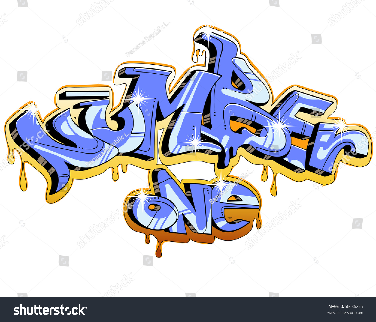 Graffiti Vector Design Number One 66686275 Shutterstock