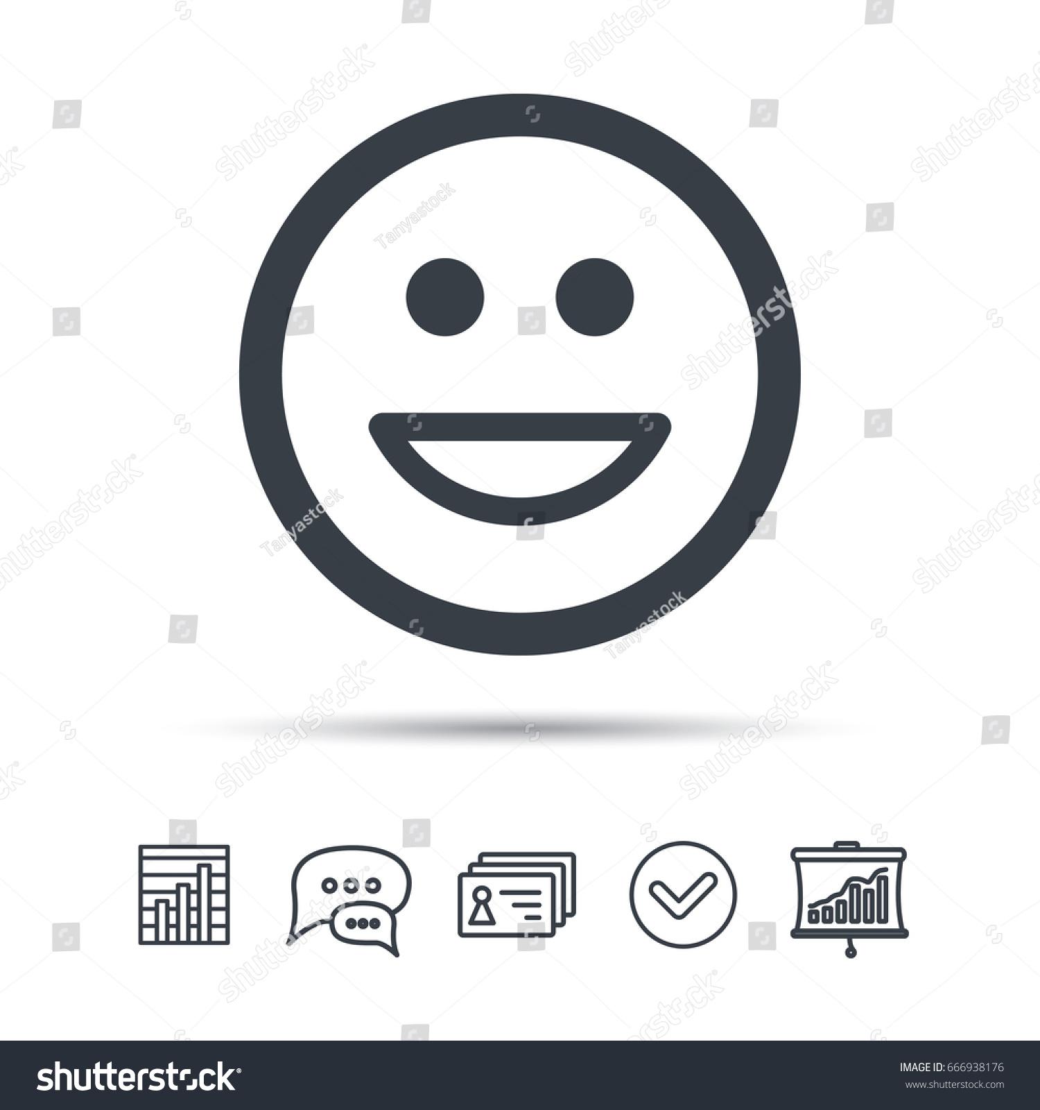 Happy Smile Icon Smiley Laugh Emoticon Stock Vector Royalty Free