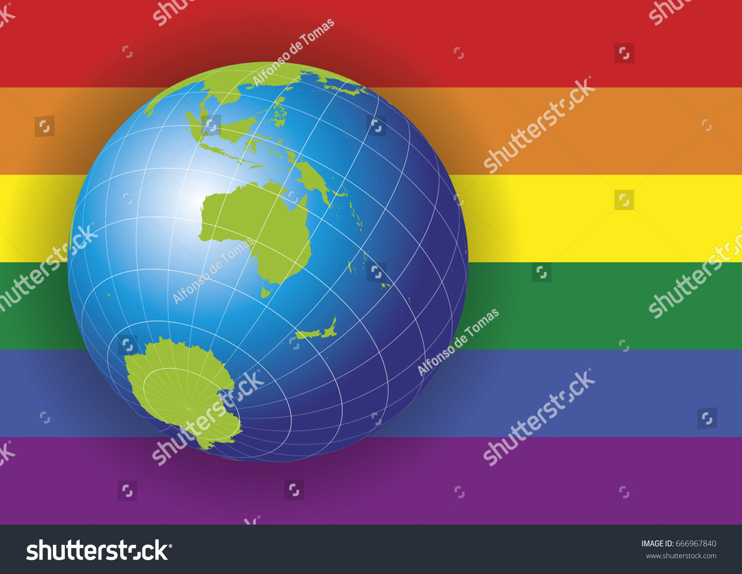 Australia map earth globe over gay vectores en stock 666967840 australia map earth globe over a gay rainbow flag background asia russia gumiabroncs Choice Image