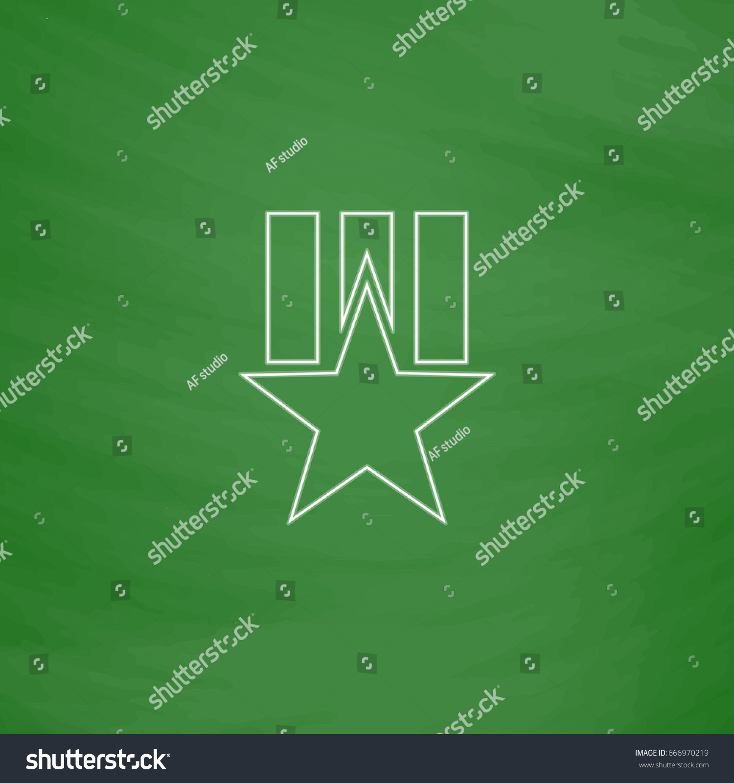 Order star outline icon imitation draw stock illustration order star outline icon imitation draw with white chalk on green chalkboard flat pictogram sciox Images