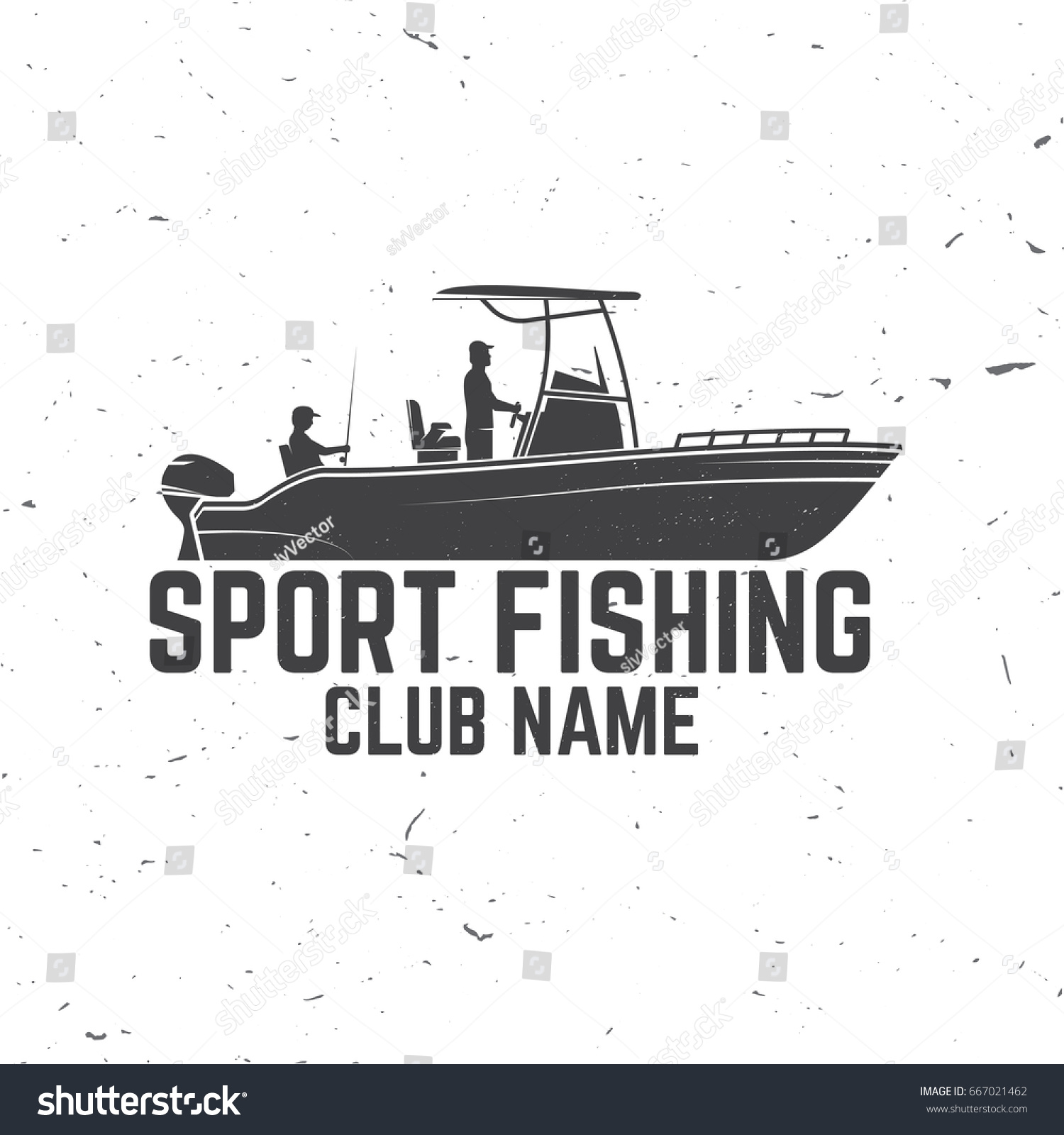 Sport Fishing Club Vector Illustration Concept Stock Vector (Royalty