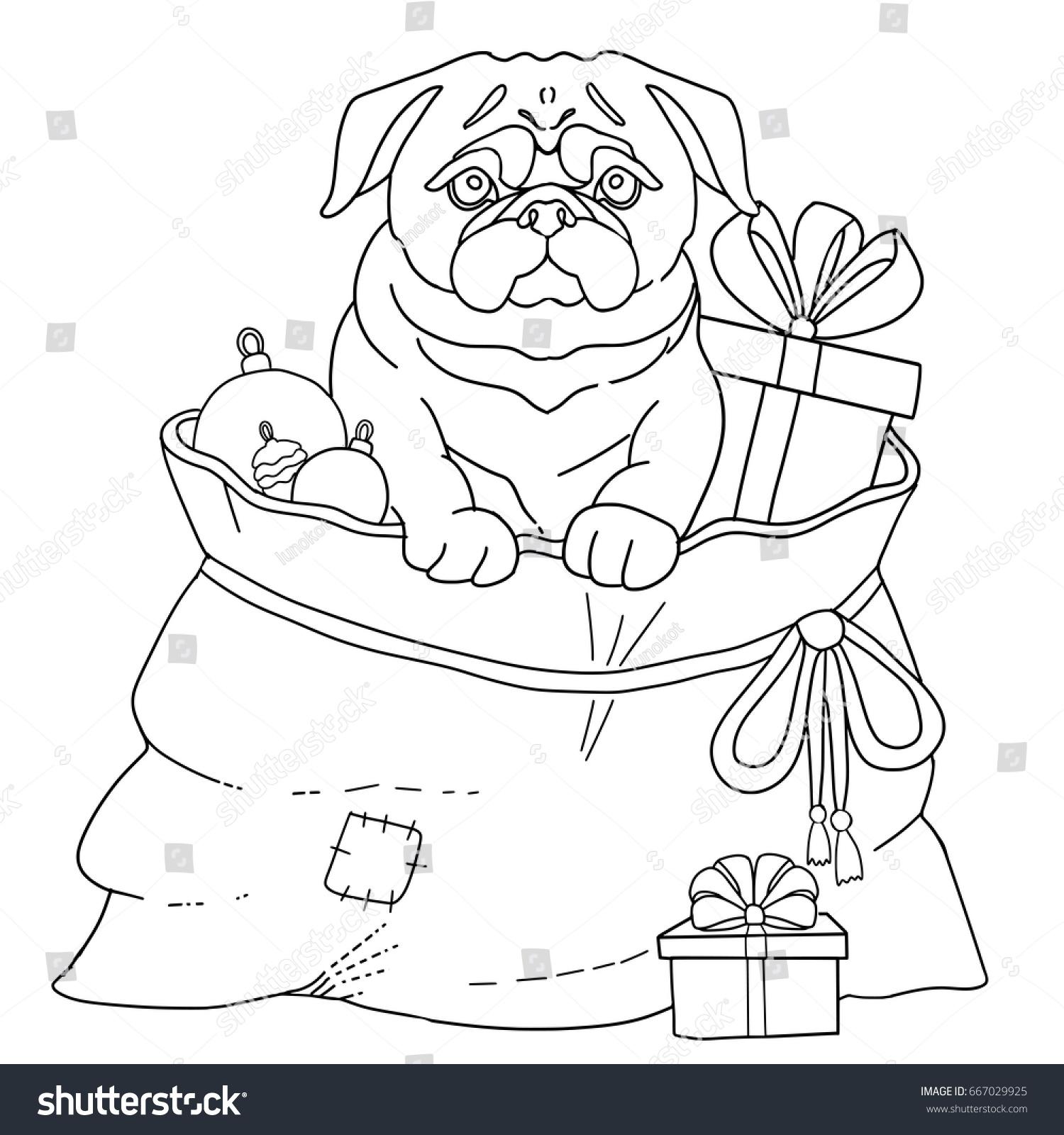 Dog Pug Symbol 2018 New Year Stock Vector Shutterstock
