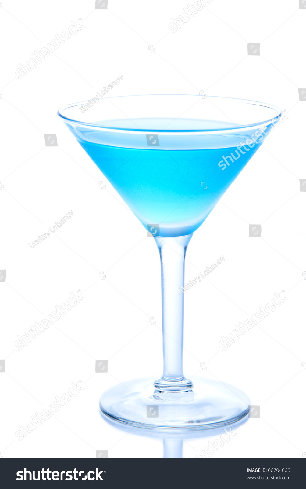 Blue hawaiian cocktails cold vodka light stock photo for Light cocktails with vodka