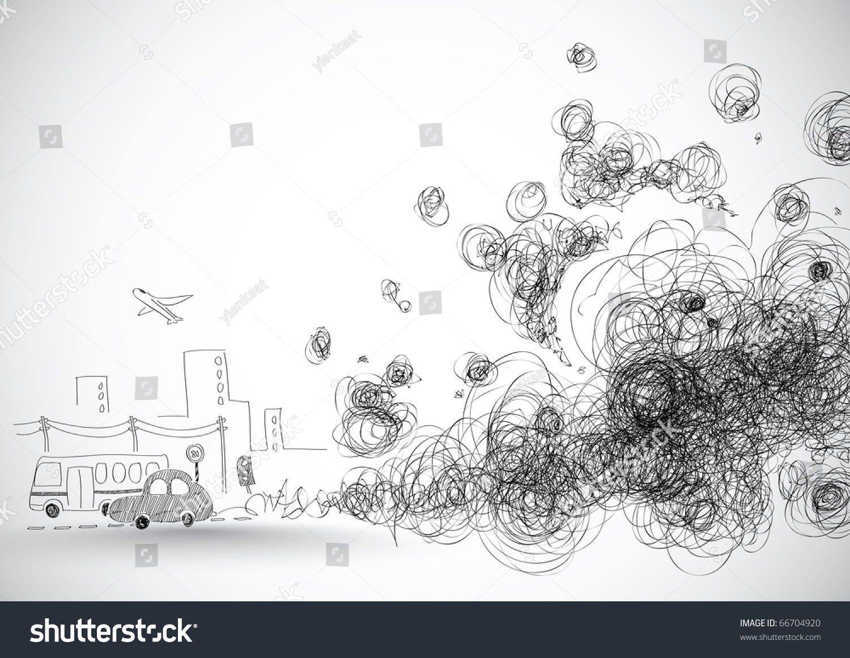 Global Warming Illustration Stock Illustration 66704920