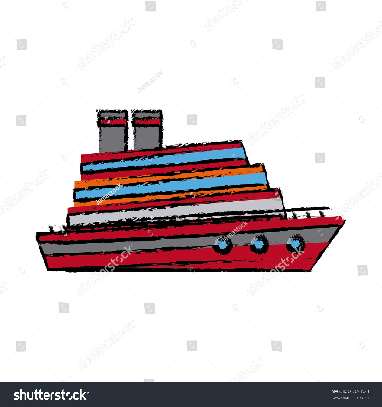 Cruise Ship Boat Vacation Steam Transport Stock Vector - Diagram of a cruise ship