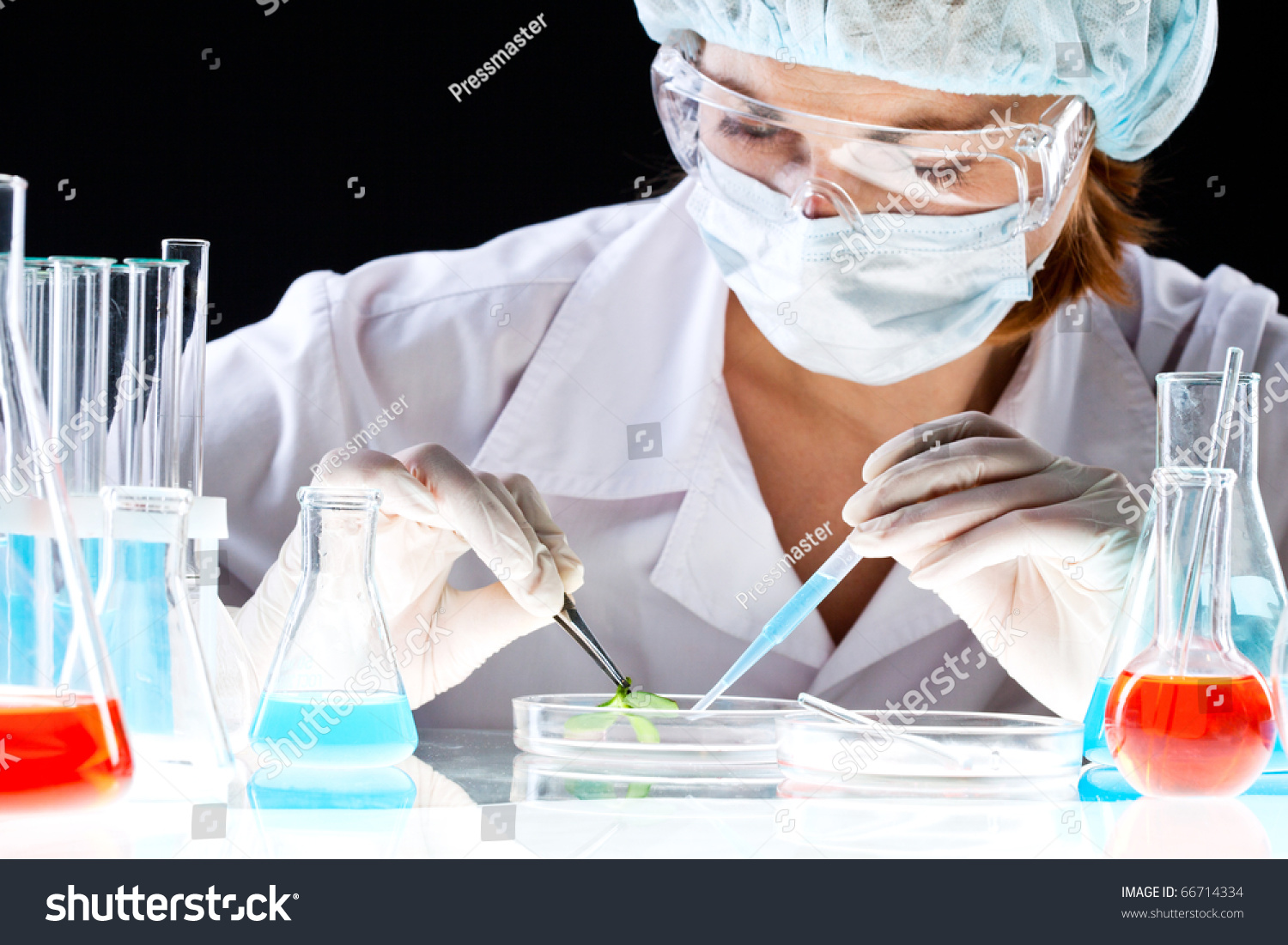 Closeup Clinician Working Tools During Scientific Stock Photo ...