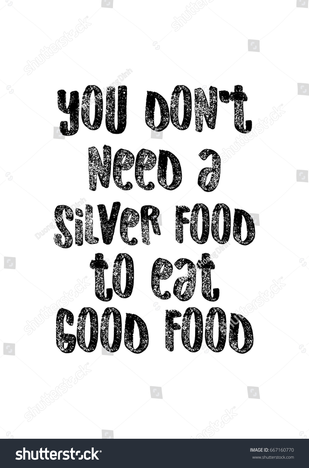 Quote Typographical About Food Template Business Stock Vector ...
