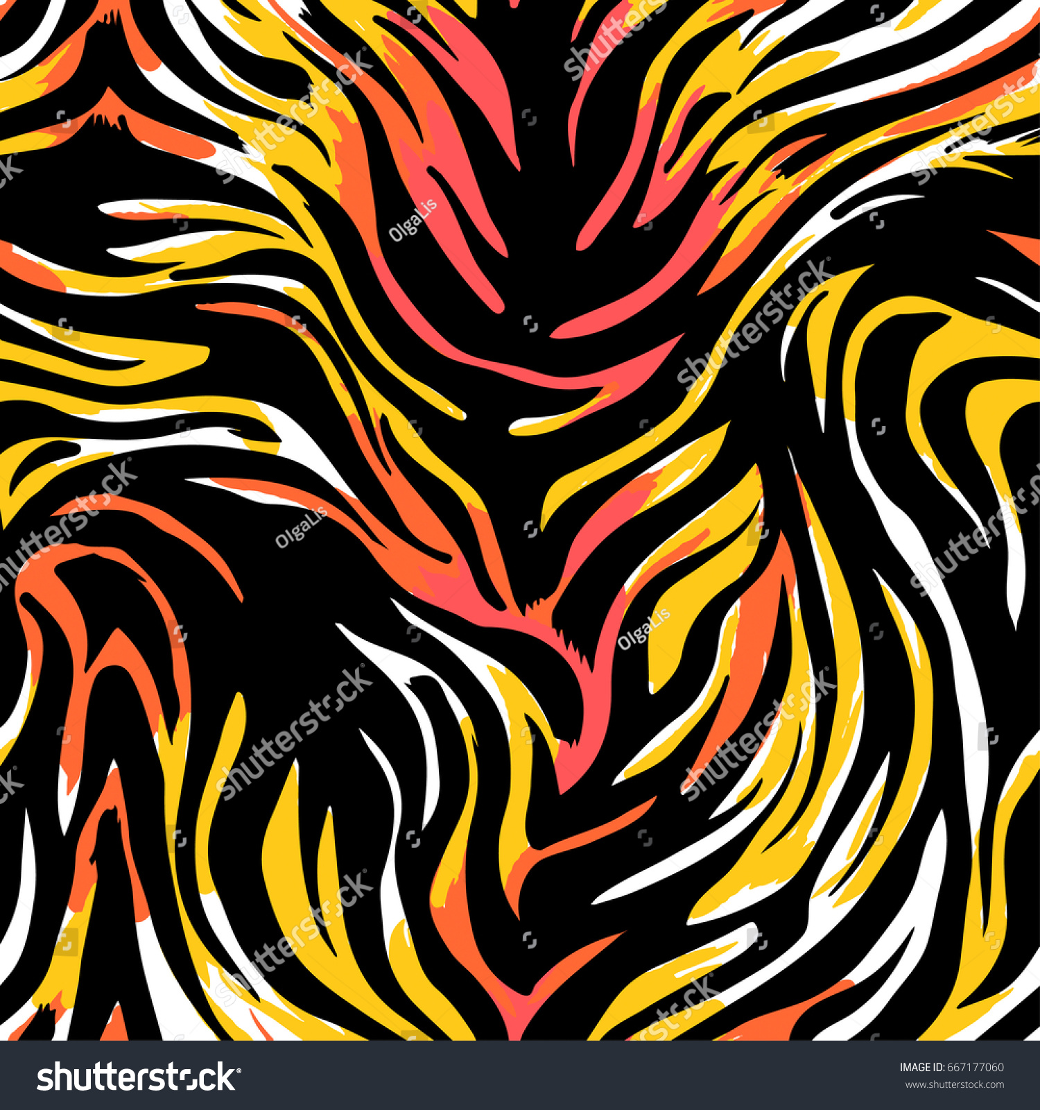 seamless abstract wild exotic animal printleopard stock vector