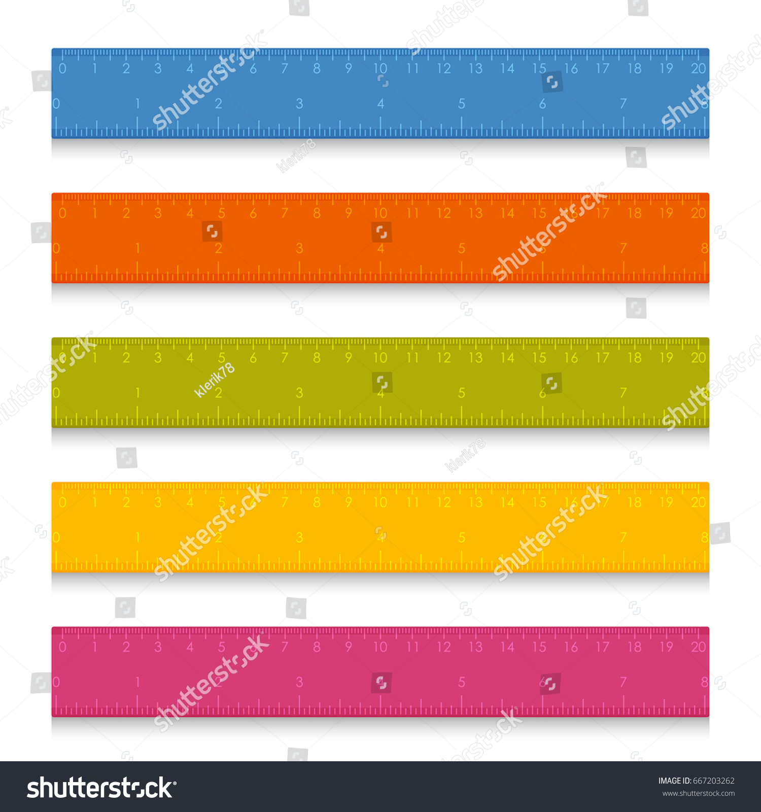 worksheet Measuring With Centimeters set multicolored school measuring rulers centimeters stock vector of with and inches illustration